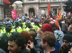 Marchers and Police
